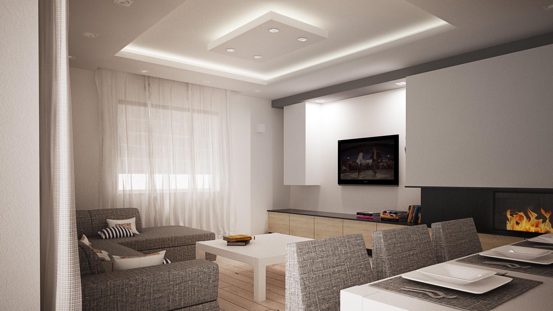 Podwieszane sufity napinane krak w cena z nadrukiem for Sufit podwieszany w salonie